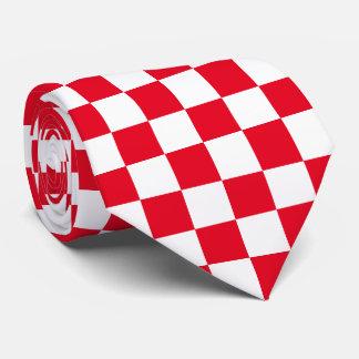 Rött rutigt slips