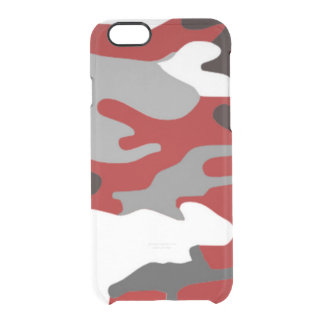 Rött skuggar Camo Clear iPhone 6/6S Skal