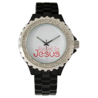 Rött som hakas på Jesus den svart Armbandsur