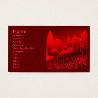 rött stads- visitkort