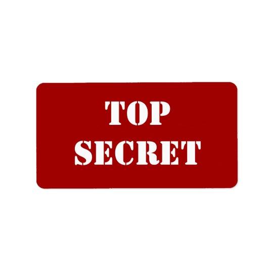Rött stencilera bästa - hemligheten adressetikett