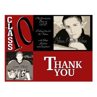 Rött studentenfoto 2010 vykort