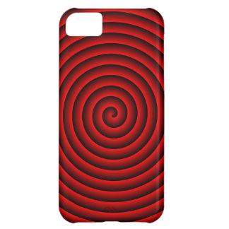 Rött & svart hypnotiskt iPhone 5C fodral
