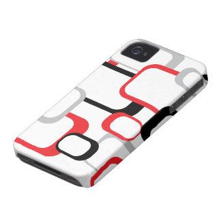 Rött, svart och grått Fodral-Kompis fodral Case-Mate iPhone 4 Case