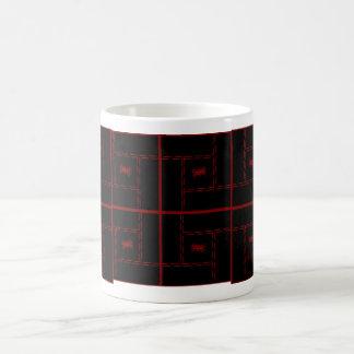 Rött syr kaffemugg