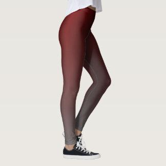 Rött till grå färglutningdamasker leggings