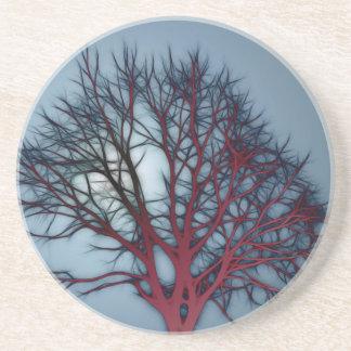 Rött träd för blod i natthimmel underlägg