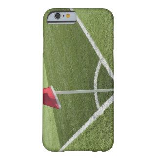 Rött tränga någon flagga på fotbollfält barely there iPhone 6 fodral