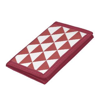 Rött triangelmönster