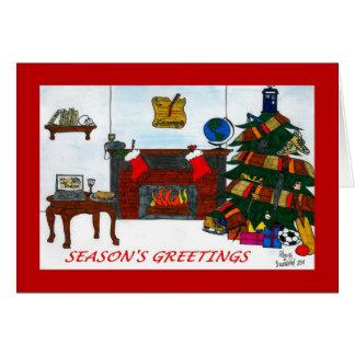 Rött TSSB-julaftonkort Hälsningskort