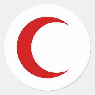 Rött växande runt klistermärke