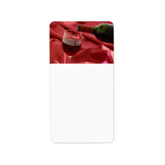 Rött vin adressetikett