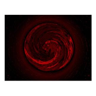 Rött virvla runt vykortet vykort