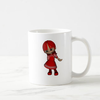 Rött Vit Mugg