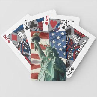 Rött, vit och blått spelkort