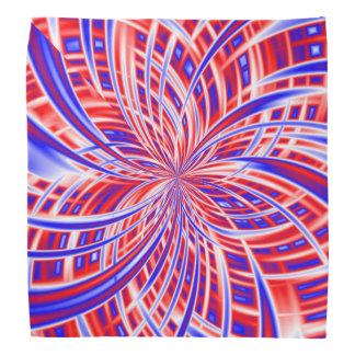 Rött, vit och blåttabstrakt kerchiefs