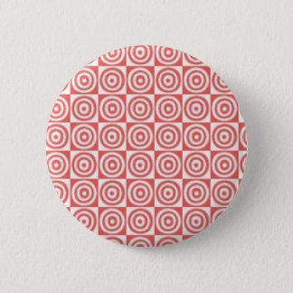 Rött & vit pricker standard knapp rund 5.7 cm