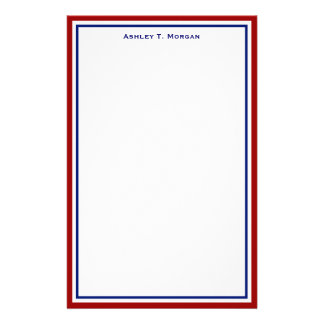 Rött vitt blått personligbrevpapper för enkelhet brevpapper