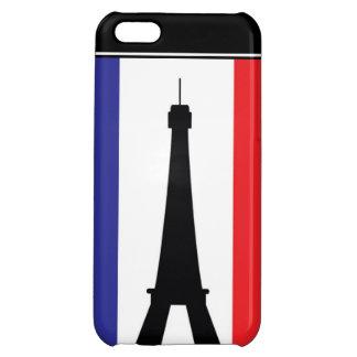 Rött vitt blått torn för 4 Eifel iPhone 5C Mobil Skal