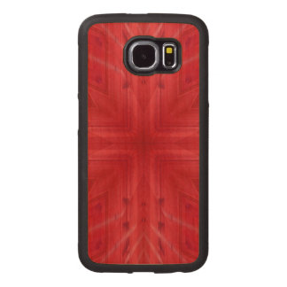 Rött wood mönster för struktur telefonskal trä