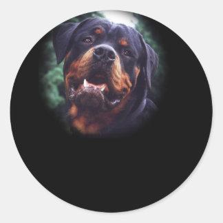 Rottweiler design rund klistermärke