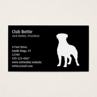 Rottweiler hundSilhouette Visitkort