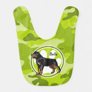 Rottweiler Rott; ljust - grön camo, kamouflage Hakklapp