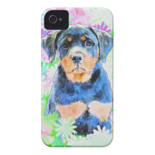 Rottweiler valp iPhone 4 Case-Mate skydd