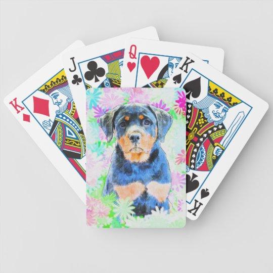 Rottweiler valp spelkort