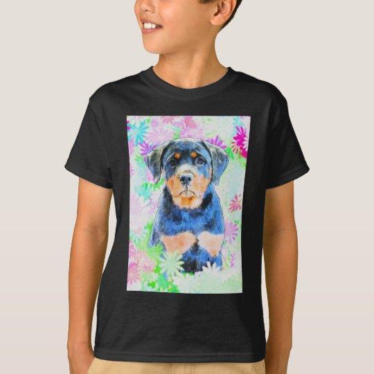 Rottweiler valp t-shirt