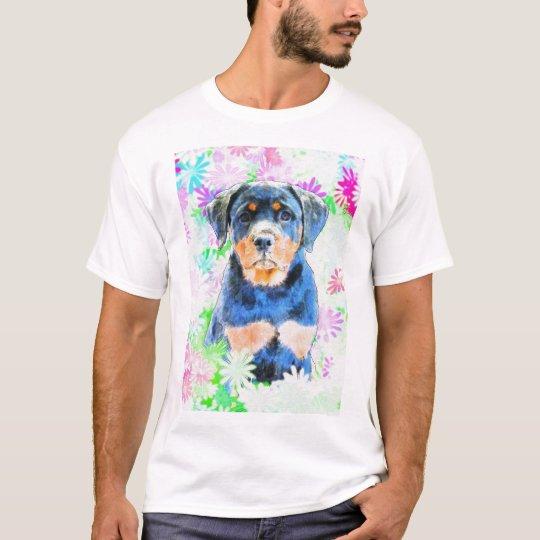 Rottweiler valp t-shirts