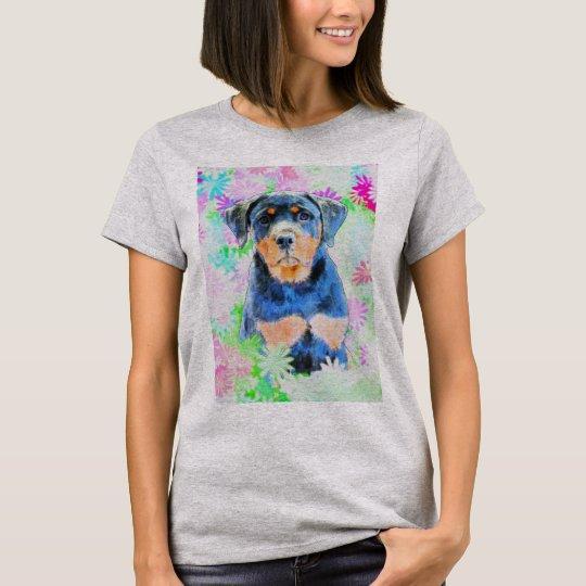 Rottweiler valp tee shirt