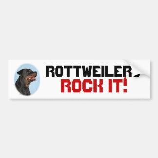 Rottweilers sten det! bildekal