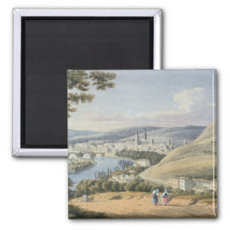 Rouen från Mont Sainte-Catherine (w/c på papper) Magnet