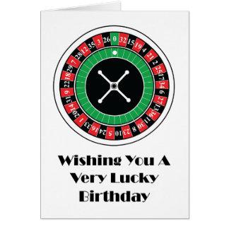 Rouletten rullar födelsedagkortet hälsningskort
