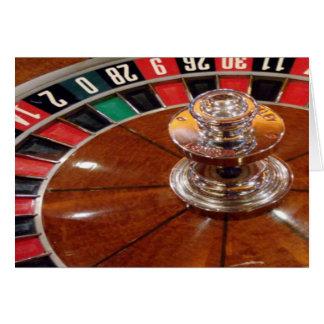 Rouletten rullar kortet för hälsningen för hälsningskort
