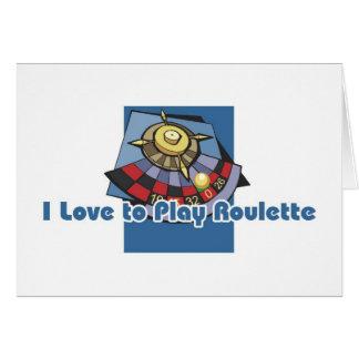 Roulettspelare hälsningar hälsningskort