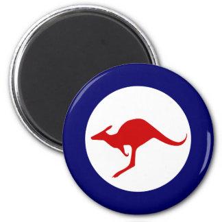 Roundel för flyg för Australien känguru militär Magnet