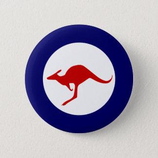 Roundel för flyg för Australien känguru militär Standard Knapp Rund 5.7 Cm