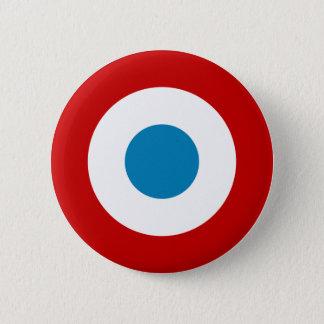 Roundel för fransk revolution frankriken Cocarde Standard Knapp Rund 5.7 Cm