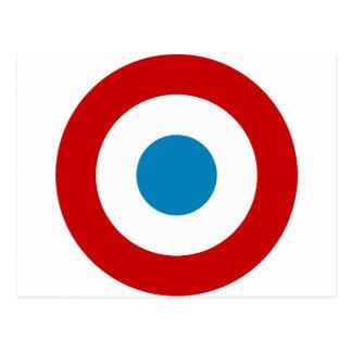 Roundel för fransk revolution frankriken Cocarde Vykort