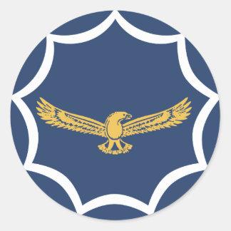 roundel för South Africa flygmilitär Runt Klistermärke
