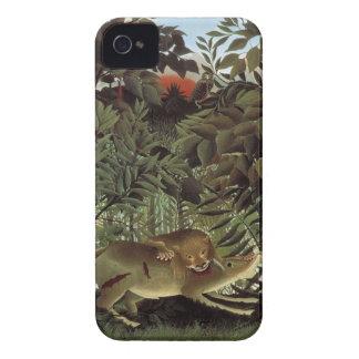 Rousseaus hungriga lejona iphone case Case-Mate iPhone 4 skydd