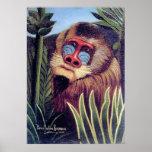 """Rousseaus """"Mandrill i djungeln"""" (circa 1909) Poster"""