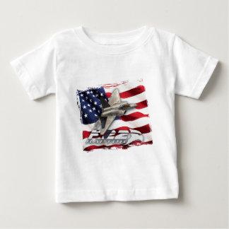 Rovfågel F-22 och amerikanska flaggan Tröja