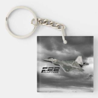 ROVFÅGELN F-22 kvadrerar (tvåsidiga) Keychain