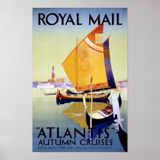 Royalet postar den återställda Atlantis Poster