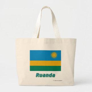 Ruanda Flagge mit Namen Tote Bag