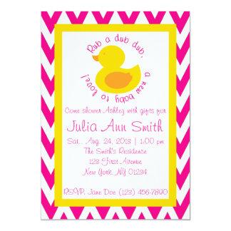 Rub-en-dub baby showerinbjudan - rosa 12,7 x 17,8 cm inbjudningskort