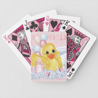 Rubber anka P som leker kort Spelkort